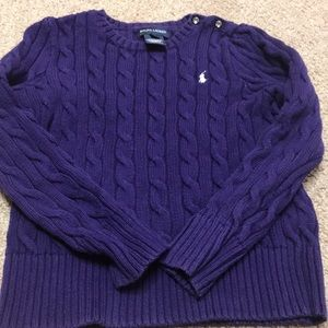 Girls purple Ralph Lauren sweater sz 6 . Good con